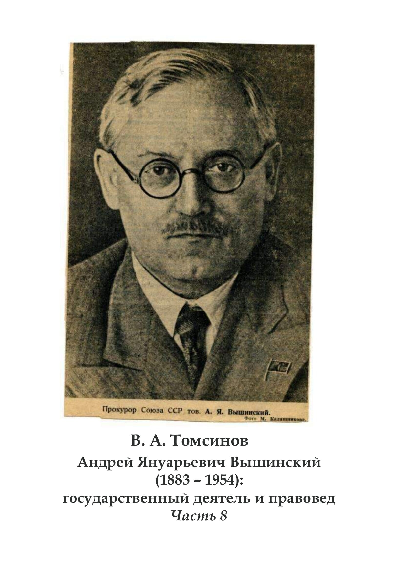 Томсинов В.А. Вышинский. Часть 8